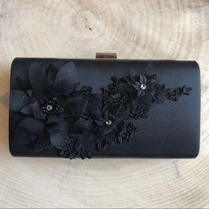 Handbags - Black satin clutch